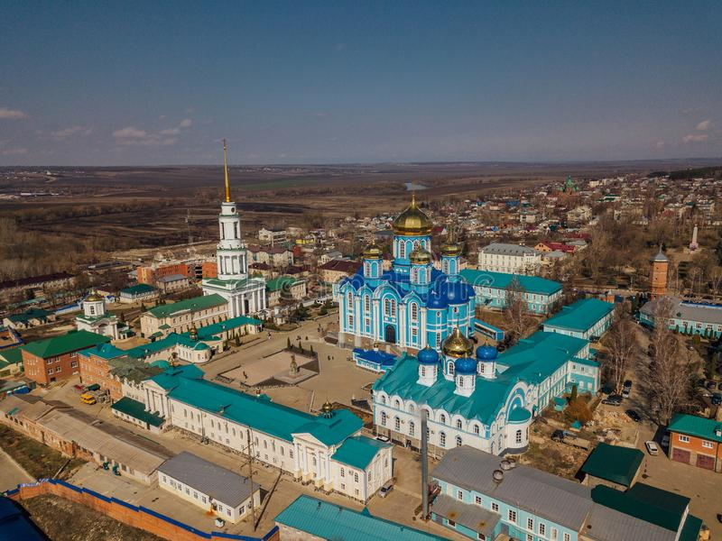 Nativity of Our Lady Monastery and Cathedral of Vladimir icon of Mother of God in Zadonsk royalty free stock image