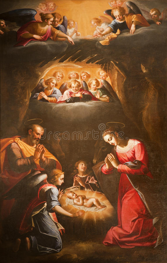 nativity rome arkivbilder