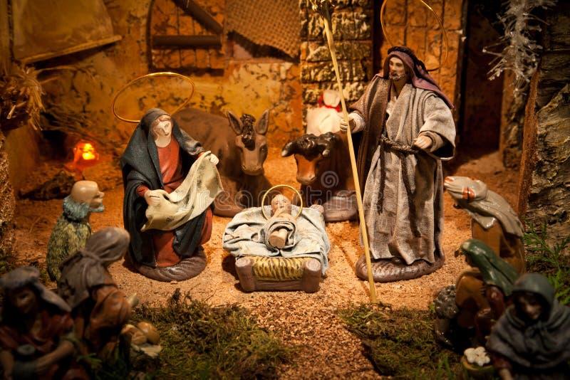 Download Nativity scene stock photo. Image of faithful, donkey - 16321176