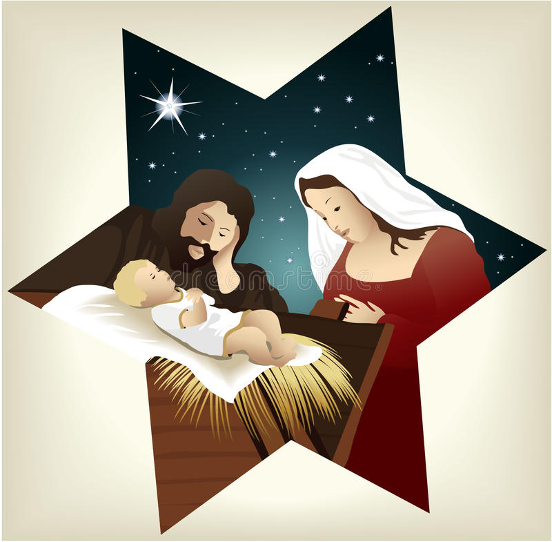 Nativity scene royalty free illustration