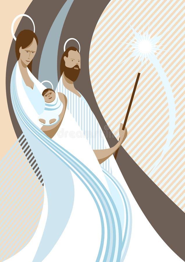 Nativity scene vector illustration