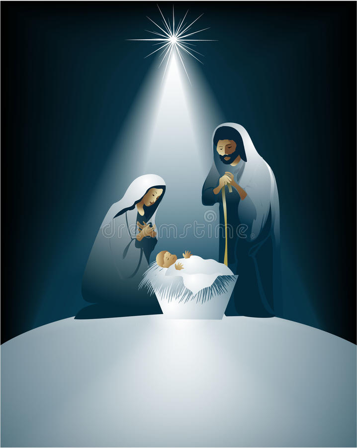 Nativity scene royalty free illustration