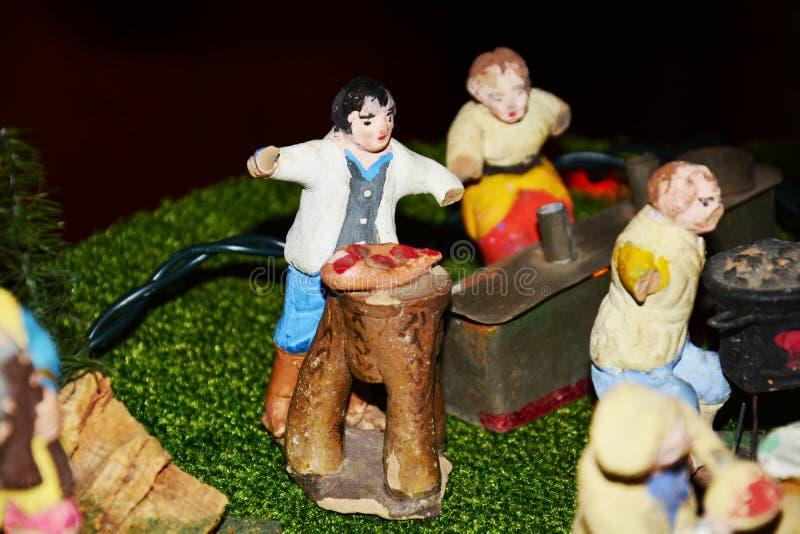 Nativity scene, details stock images