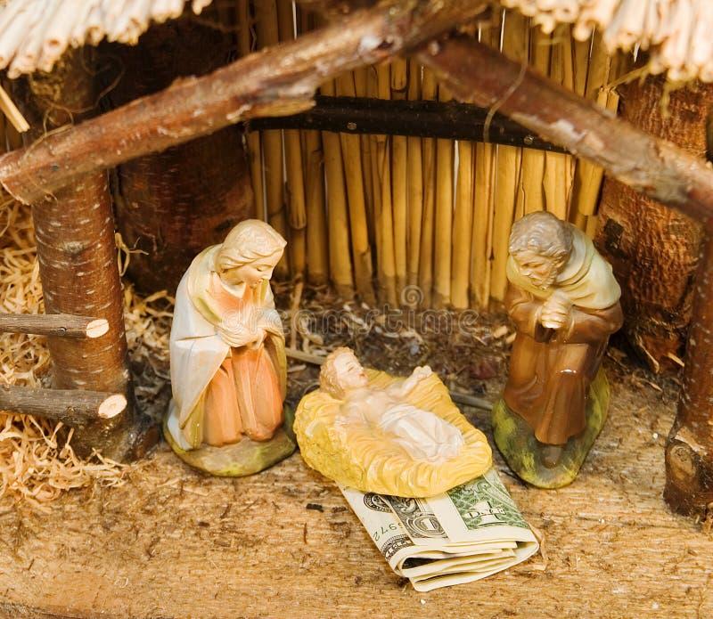 Download Nativity Scene with Money stock photo. Image of used, money - 348492