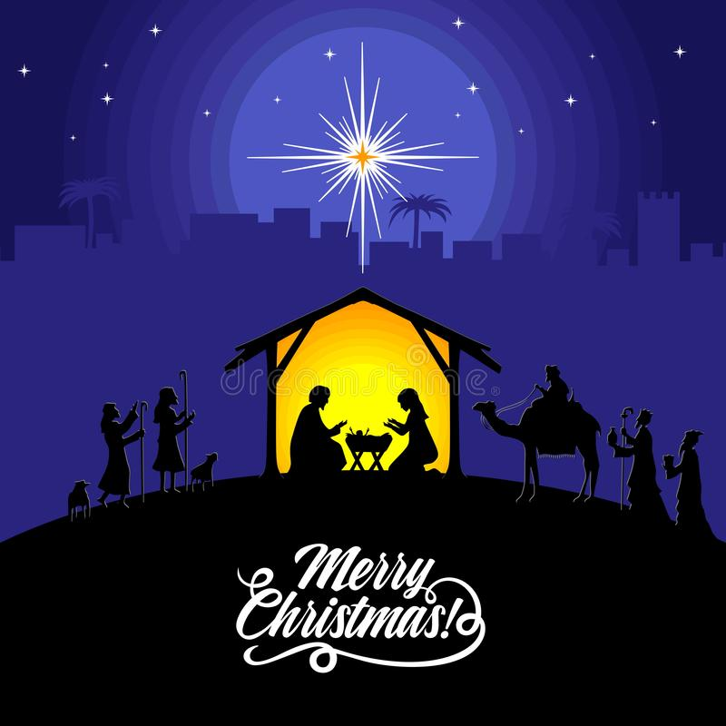 Free Nativity Scene Near The City Of Bethlehem. The Shepherds And The Wise Men Came To Worship The Christ. Royalty Free Stock Images - 134633009