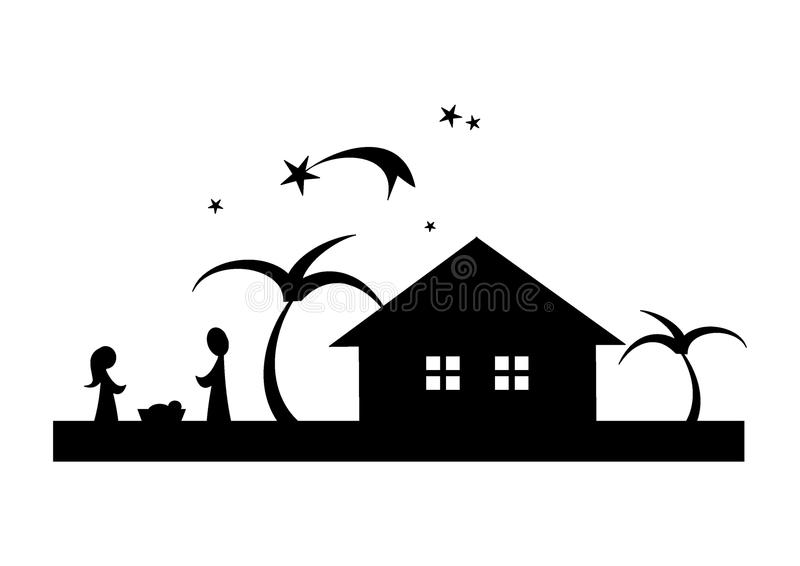 Nativity Scene vector illustration