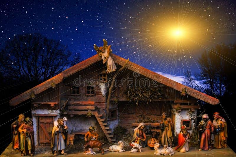 Nativity Scene, Sky, Night, Christmas Decoration Free Public Domain Cc0 Image