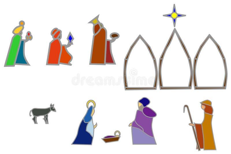 nativityformer vektor illustrationer