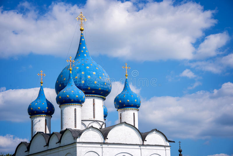 Nativitys的大教堂,苏兹达尔,金黄圆环,俄罗斯 免版税图库摄影