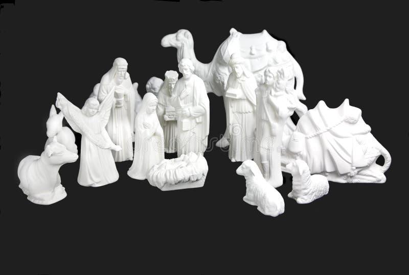 nativitywhite arkivbild