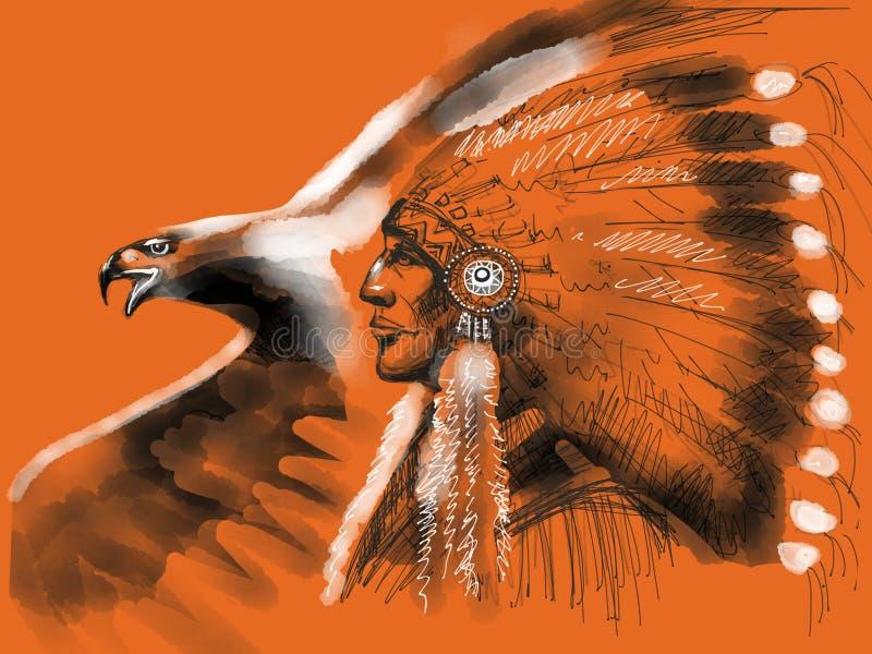 Nativo americano ilustração do vetor
