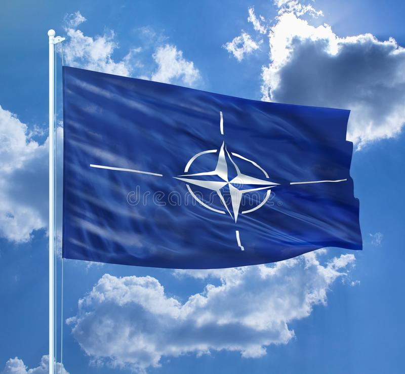 NATO ALLIANCE FLAG - Stock image royalty free stock photo