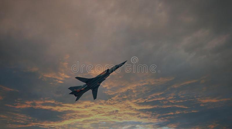 NATO: Backfire. Bombers of Russian Air Force. In sky stock photos