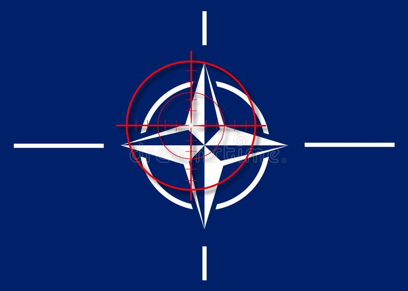 NATO in the crosshair royalty free illustration