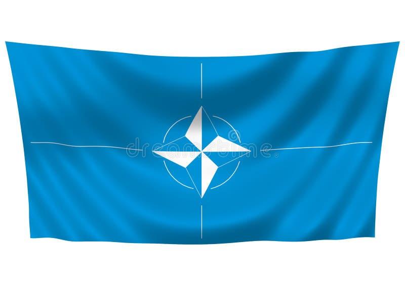 NATO flag vector illustration