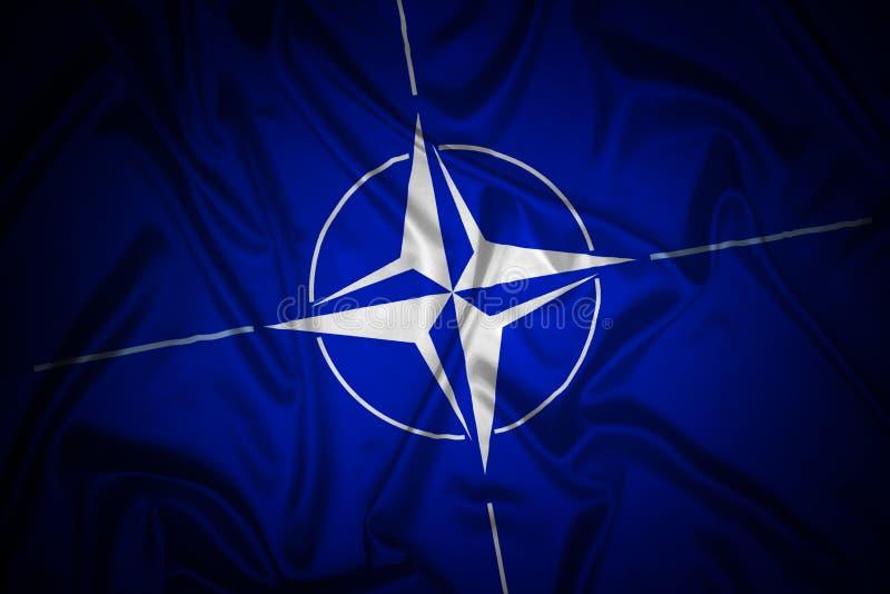 Download NATO flag stock illustration. Image of label, flying - 19951348