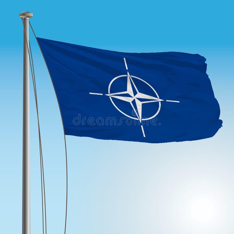 Nato-flagga royaltyfri illustrationer