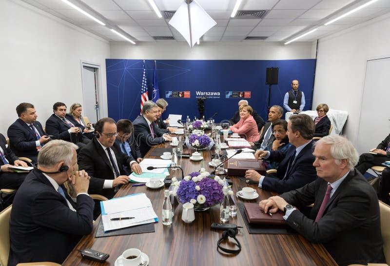 NATO-Gipfel in Warshaw lizenzfreies stockfoto