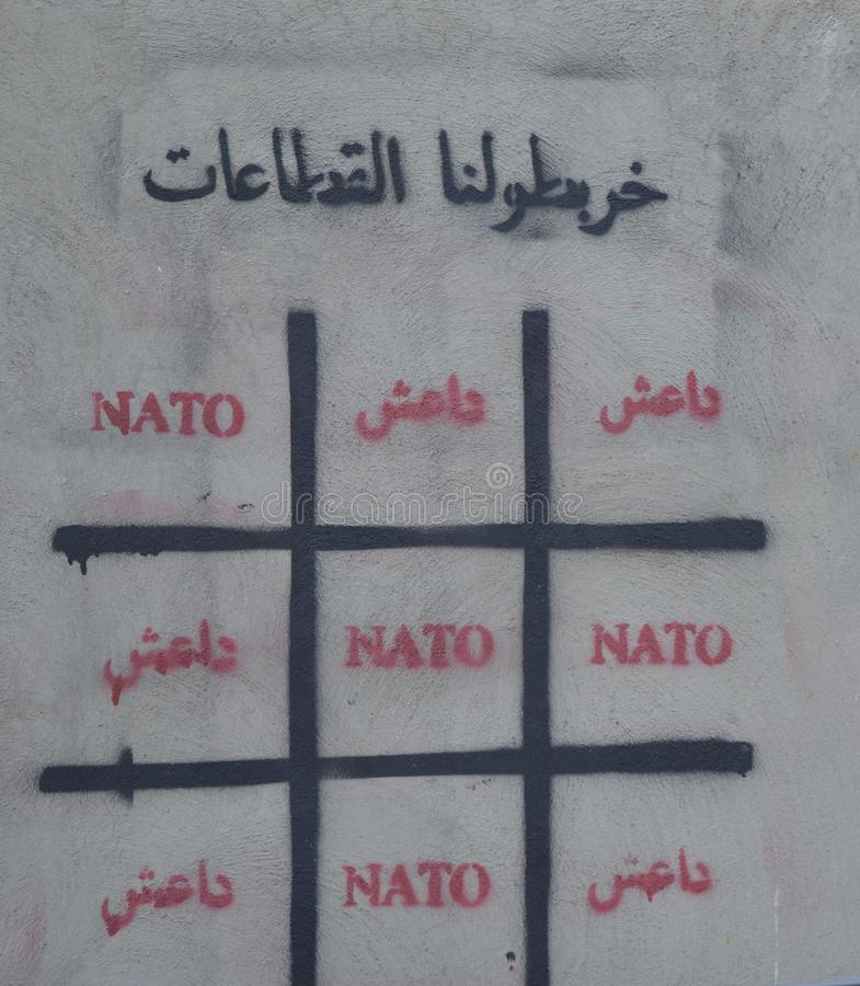 NATO and IS - ISIS - Islamic State. NATO and IS - 'we are confused royalty free stock photos