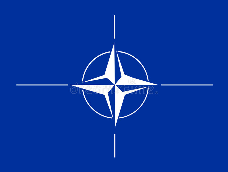 NATO-Markierungsfahne vektor abbildung