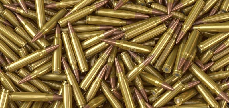 NATO-Maschinengewehrmunitionspatronen, die auf einem Stapel liegen vektor abbildung
