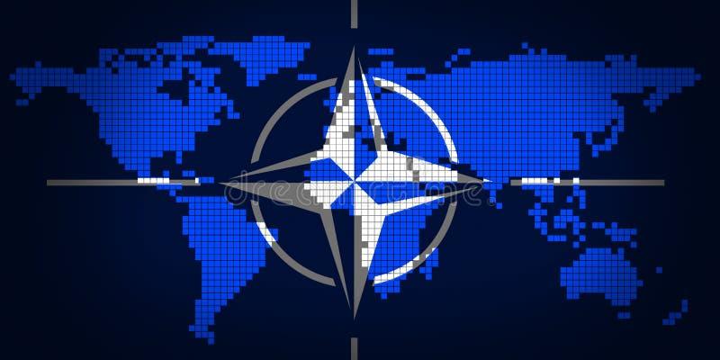 NATO-WSKA i światowa mapa ilustracji