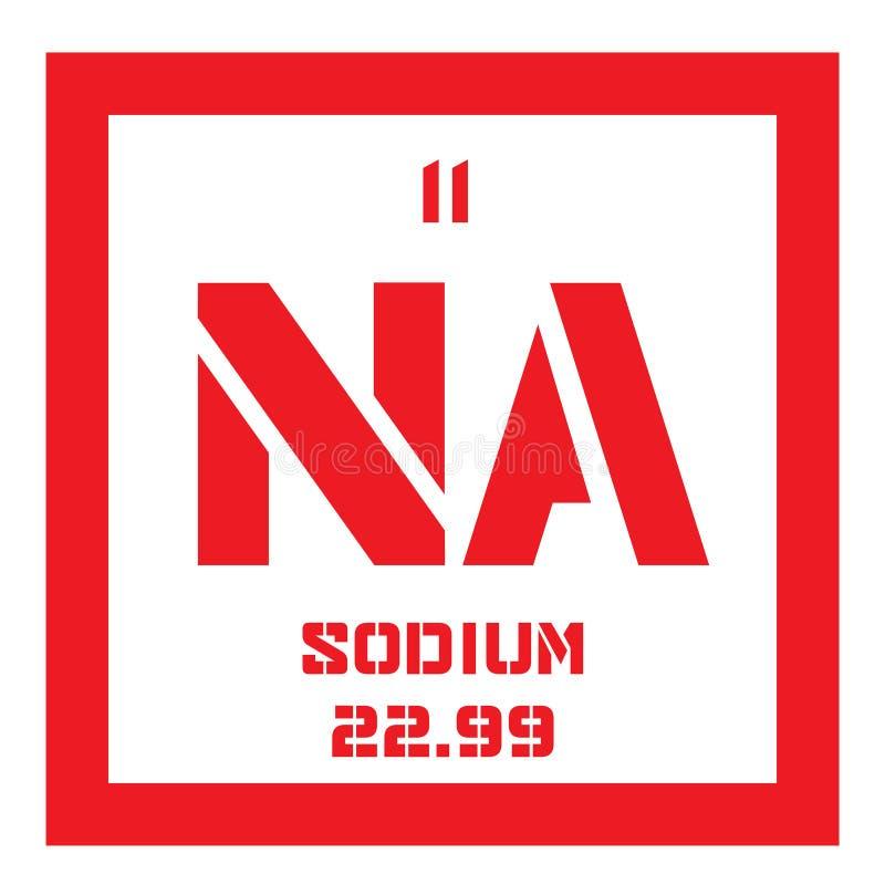 Natrium chemisch element royalty-vrije illustratie