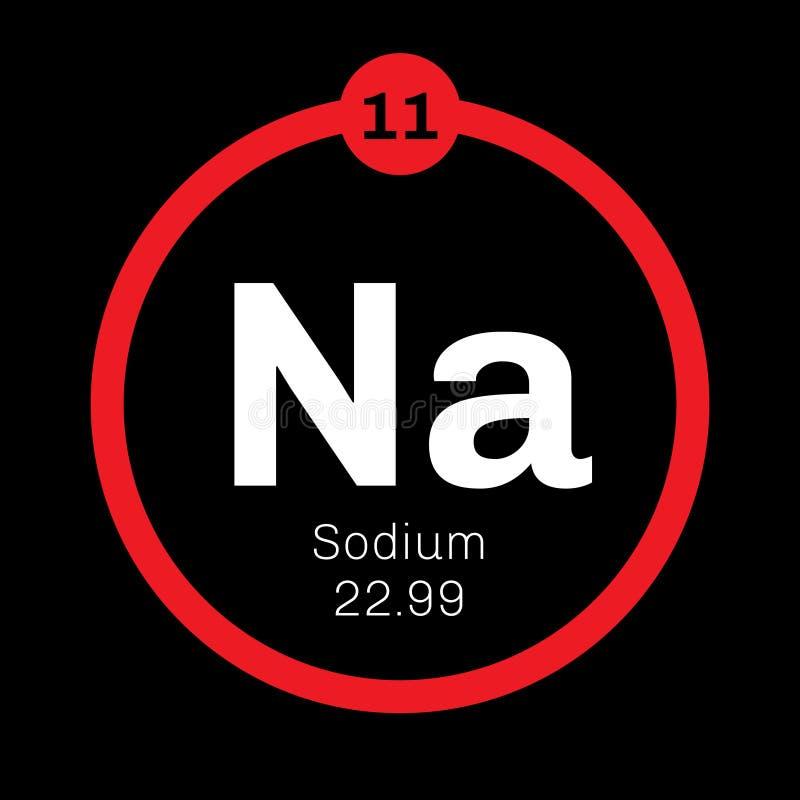 Natrium chemisch element vector illustratie