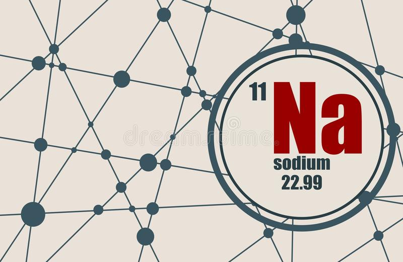 Natrium chemisch element stock illustratie
