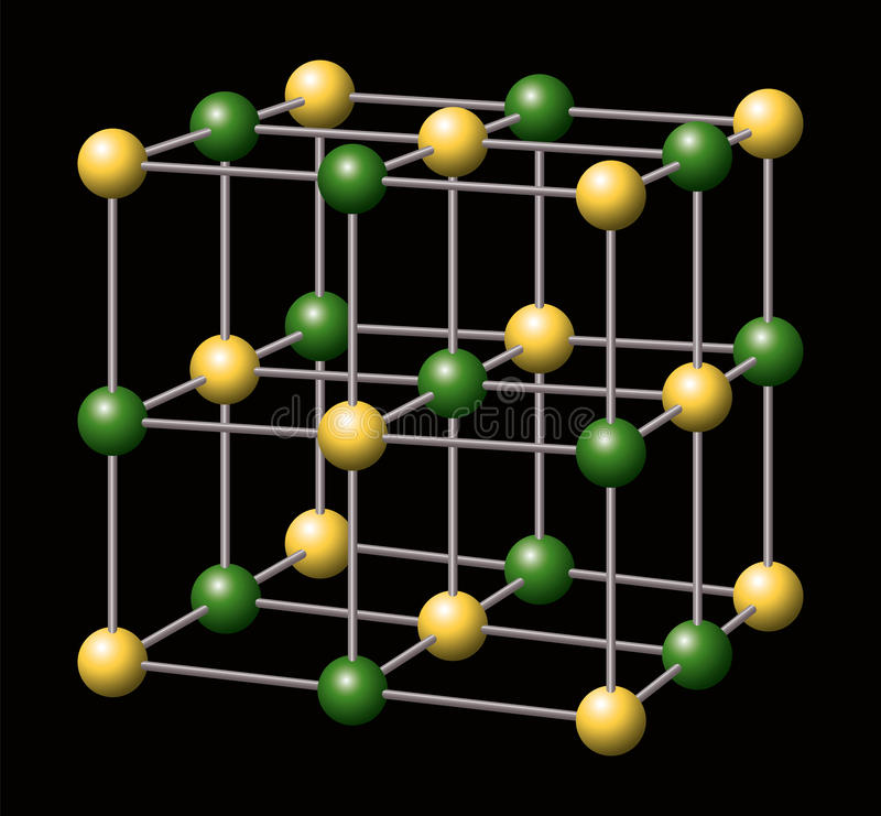 Natriumkloriden - NaCl - salta royaltyfri illustrationer