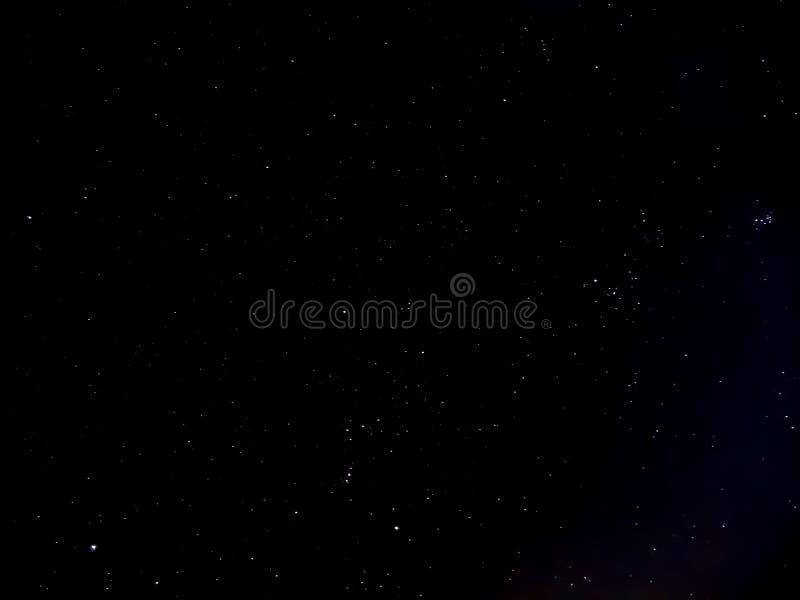 Natt av himmel med stjärnor royaltyfria bilder