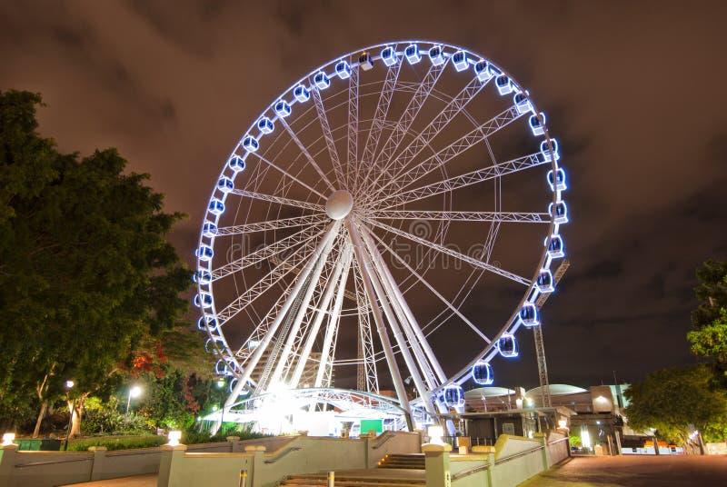 natt för Australien brisbane karusellstad arkivbild