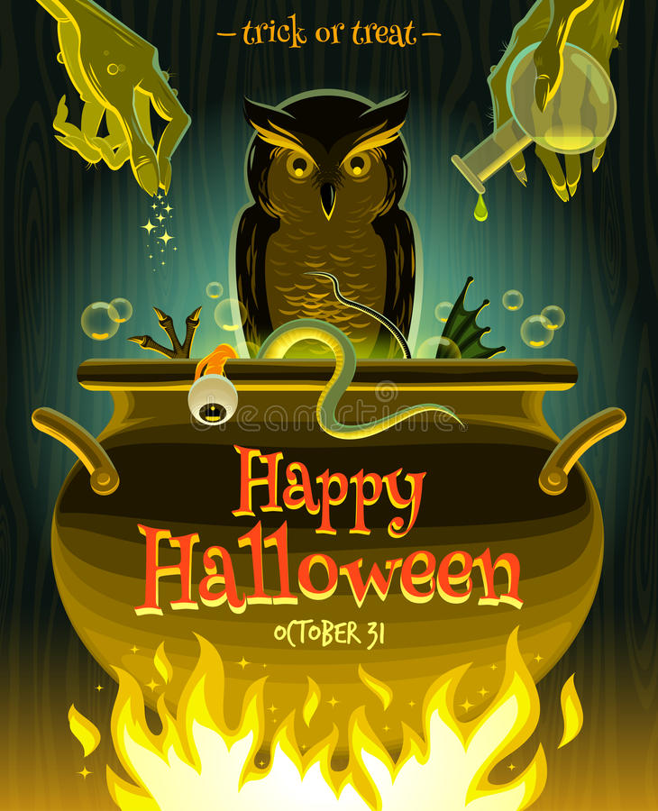 natt för halloween illustrationmoon royaltyfri illustrationer