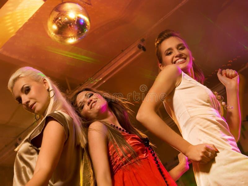 natt för klubbadansflickor arkivfoton