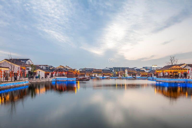 Natt för Wuxi dangkoustad royaltyfri foto