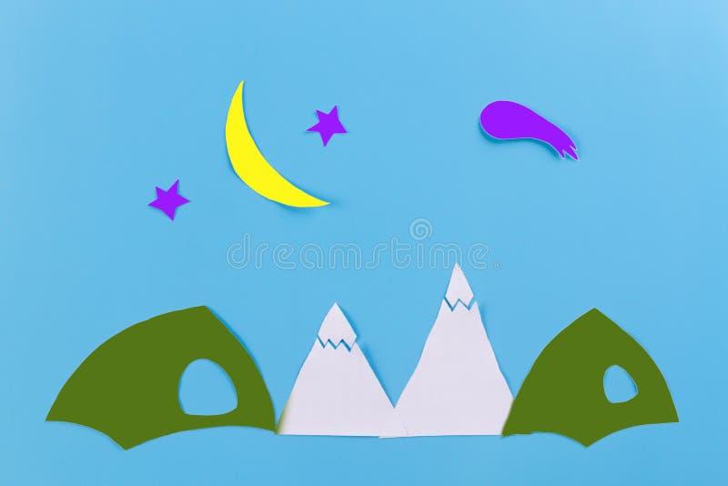 Natt i bergen royaltyfri fotografi