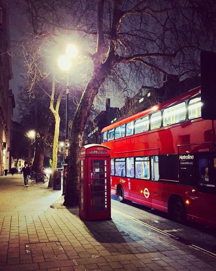 Natt i London arkivfoton