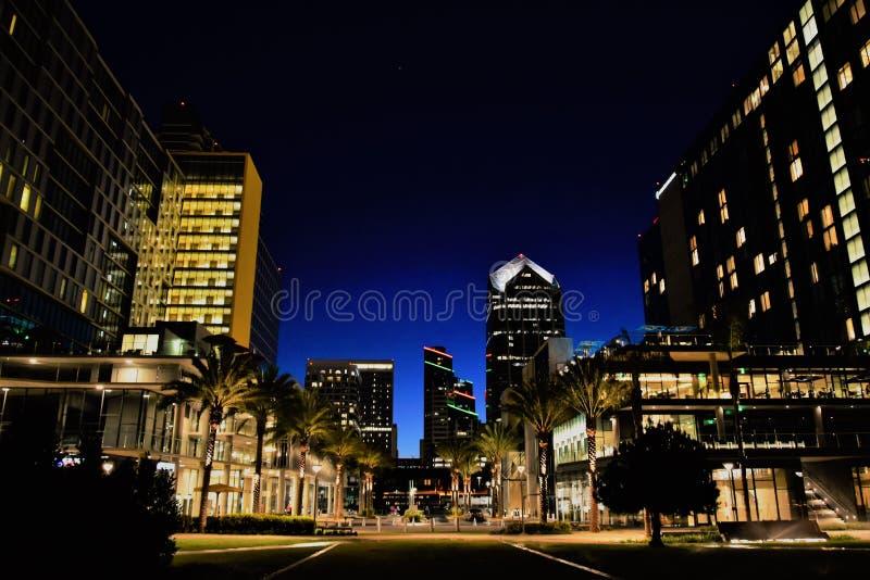Natt i San Diego arkivbild