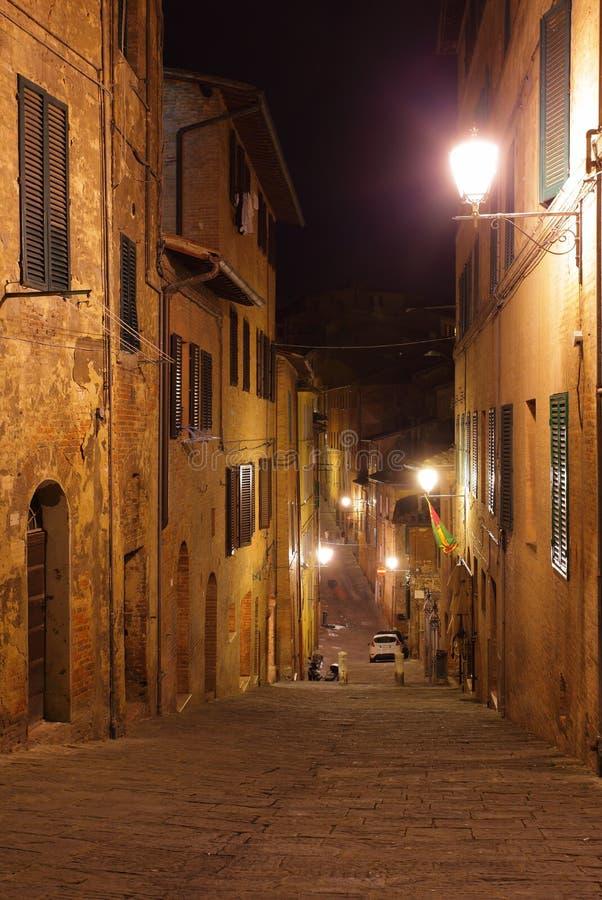 Natt i Siena arkivbild