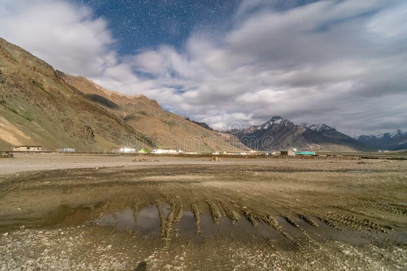 Natt i Zanskar - Leh Ladakh, Jammu and Kashmir, Indien arkivfoton