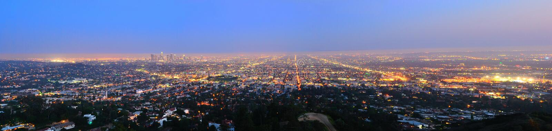 Natt Los Angeles royaltyfri fotografi