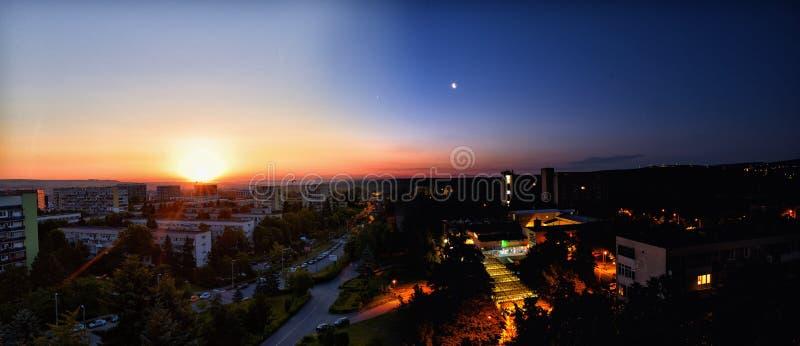Natt och dag arkivfoton