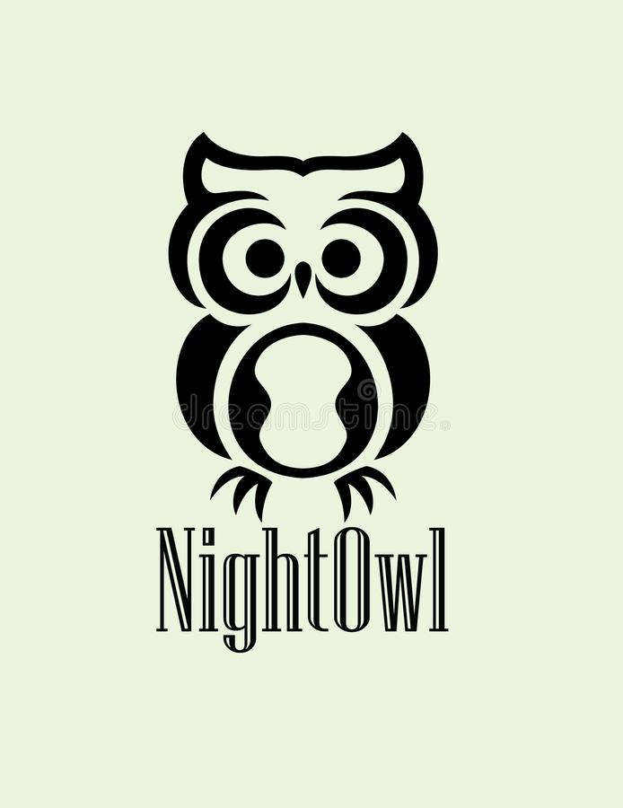 Natt Owl Logo vektor illustrationer