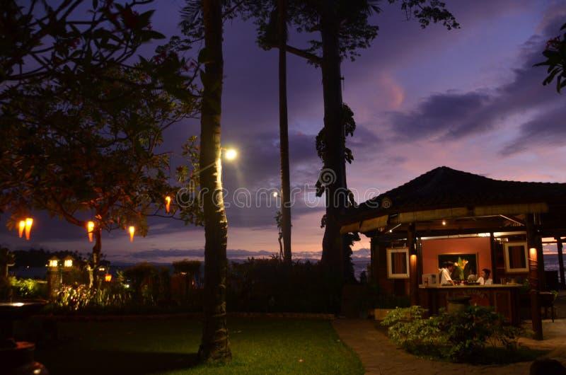 Natt på Sheraton Sengigi arkivbild