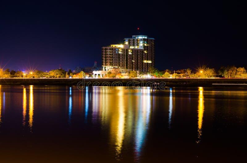 Natt Phnom Penh arkivfoton