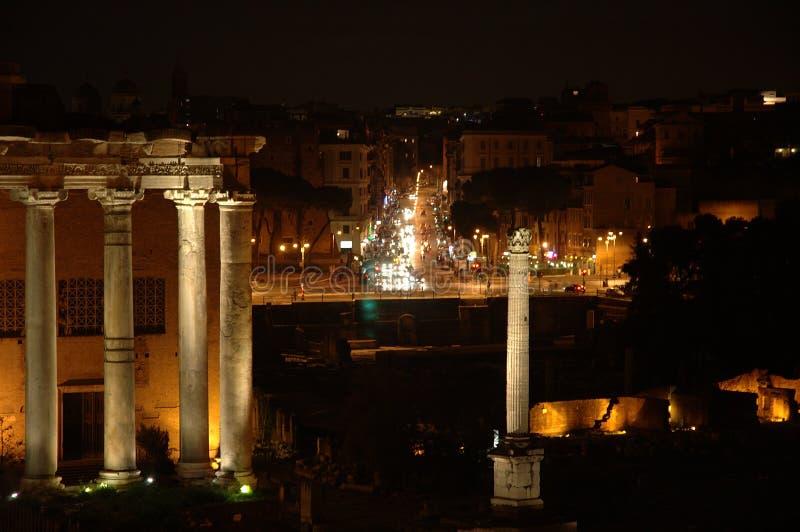 natt rome royaltyfri bild