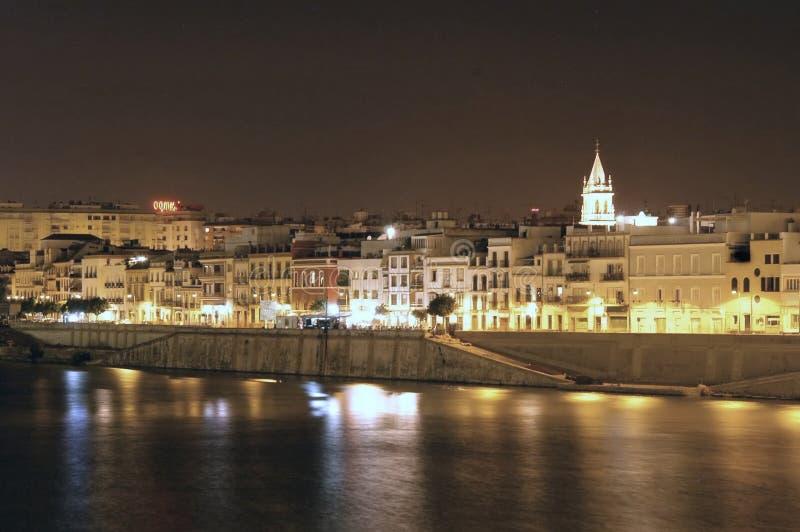 Natt Seville Royaltyfri Bild