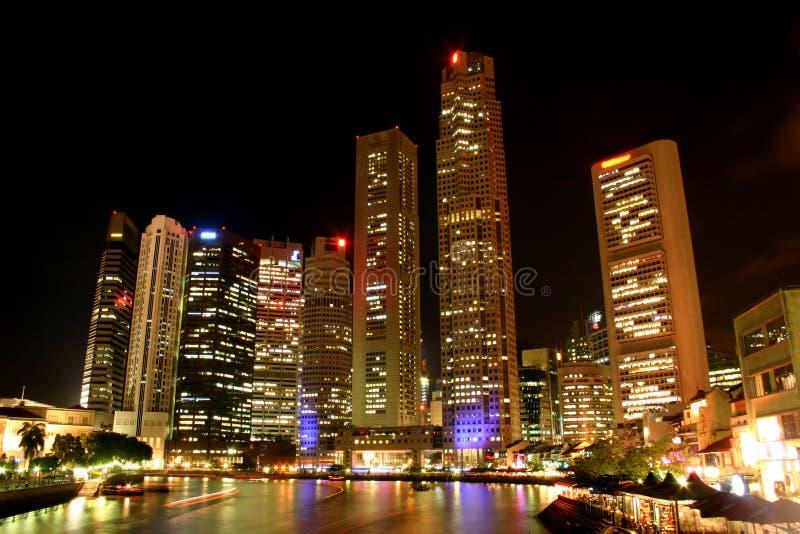 natt singapore royaltyfria bilder