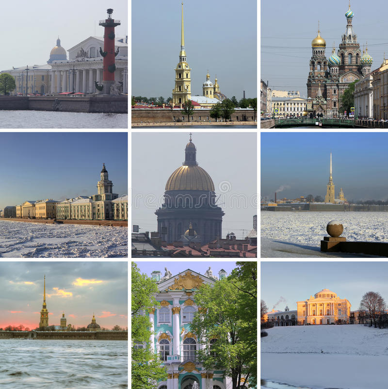 Natt St Petersburg, Ryssland arkivbilder