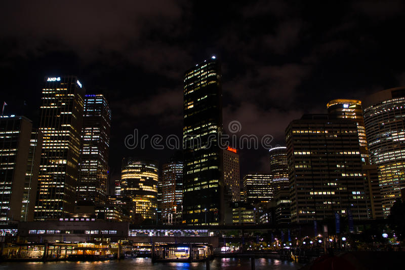 natt sydney fotografering för bildbyråer